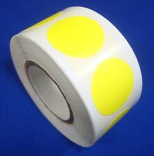"""1000 Yellow Self-Adhesive Price Labels 3/4"""" Stickers/ Tags Retail Store Supplies"""