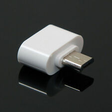 Protable White Adaptador MICRO USB OTG ON THE GO 2.0 Tablet Smartphone Accessory