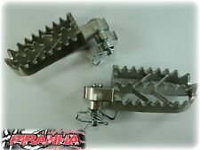 STAINLESS STEEL PIT BIKE FOOTPEGS FOOT PEGS CRF50