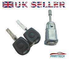 VW MK4 GOLF BORA POLO 9N FOX SERRATURA COMPLETA PORTIERA & 2 KEYS ANT DX OSF