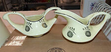 Pearl China Company Yellow w/22KT Gold Paint Accents Sugar and Creamer Set