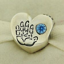 Authentic Pandora 791281CZB It's A Boy Heart Sterling Silver Bead Charm