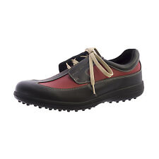 BALLY Step Women's Golf Leather Black Pupa Shoes 10 New $199