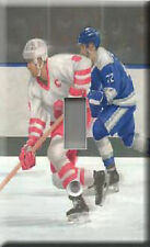 Single Light Switch Plate Cover - Blue Penalty Shot