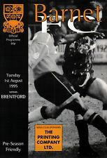 1995/96 Barnet v Brentford, Friendly - PERFECT CONDITION