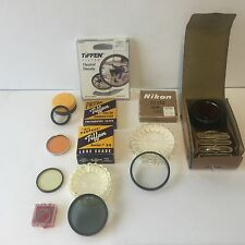 LOT OF VINTAGE FILTERS TIFFEN NEUTRAL DENSITY KODAK NIKON EDNALITE ANSCO