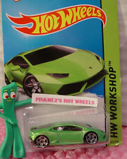 Case L 2015 i Hot Wheels New LAMBORGHINI HURACAN LP 610-4 #222∞Green∞HW Garage