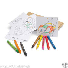 Wax Colouring Pencil Crayons Set Paper- Kids Party Bag / Loot Toy Wedding Favour