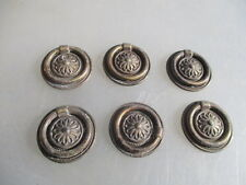Small Vintage Metal Drawer Handles Pulls Antique Style x6 retro Cabinet Cupboard