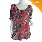 Ladies Millers Summer Blouse, Top with Roll Cuff Sleeves inc Plus Size 10-20