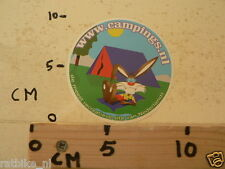 STICKER,DECAL WWW.CAMPINGS.NL TENT