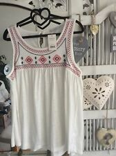 Ethnic Sun Top Size 16 Embroidered