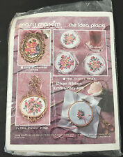 vintage mary maxim 7094 silken ribbon embroidery picture kit flowers floral NEW