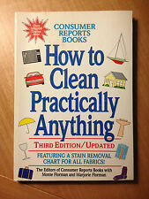 How to Clean Practically Anything- Consumer Reports Books (paperback) store#2781