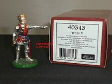 BRITAINS 40343 KING HENRY V CEREMONIAL FOOT KNIGHT METAL TOY SOLDIER FIGURE SET