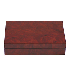 Burlwood Finish Wooden Cufflink Case / Box- up to 20 Pairs - A- Grade (4091BURL)