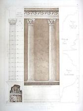 44 ~ ROMAN VESTA TEMPLE Tivoli ~ Old 1905 Classical Order Architecture Art Print