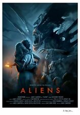Aliens James Cameron Alternative Movie Poster by Brian Taylor NT Mondo