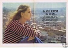 Coupure de presse Clipping 1980 Isabelle  Huppert  (6 pages)