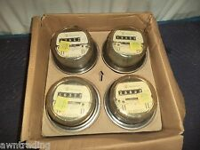 Lot of 4 -WESTINGHOUSE D4S WATT HOUR ELECTRIC METERS 240 VOLTS FM2S *FREE US S/H