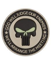 KOMBAT GOD WILL JUDGE OUR ENEMIES PATCH PVC WITH VELCRO BACKING