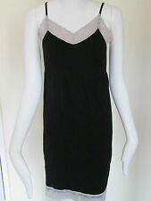 LOVE TO LOUNGE - BLACK WITH GREY LACE CAMMI Size  M