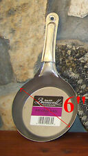 "Steel FRYING PAN 6"" Made in USA JACOB BROMWELL FREE SHIPPING 6 inch skillet NEW"