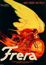FRERA, 1929 Vintage Italian Motorcycle Advertising Giclee Canvas Print 30x42