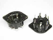 2 x SOCKET-FASSUNG-8 PIN-TOPFFASSUNG-NEW-FOR TUBES LIKE AL4-AF7-AZ1
