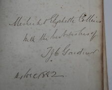 Bible Meshach Harris – Chetton Bridgnorth & Elizabeth Collins - Baddesley Ensor