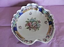 T. Limoges Charles Ahrenfeldt Porcelain Shell Bowl, Italy, Painted Floral Center