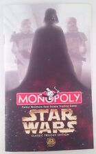 1997 Star Wars Monopoly Classic Trilogy Edition Instruction Booklet