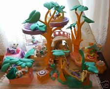 Vintage Fisher Price Hideaway Hollow Home XTRAS Bunny/Rabbit Treehouse W/BOX