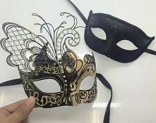 Couple Lover Masquerade Mask Party Mask Black Men BK/Gold Women Butterfly Mask