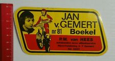 Aufkleber/Sticker: Jan v. GEMERT nr. 81 Boekel (050416193)