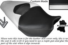 WHITE AND BLACK CUSTOM FITS HONDA VFR 1200 F 09-13 DUAL LEATHER SEAT COVER