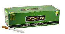 1x Box ( ZEN Green Menthol King Size ) Cigarette Tube RYO - 250 Tubes Per Box