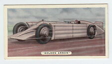 1935 Auto Racing Card of THE GOLDEN ARROW Daytona Beach Sir Henry Segrave