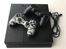 Sony PlayStation 4 500GB Black Console W/ Two Controllers + Free Shipping! 1215A