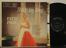 """PATTI PAGE This is My Song RARE 1955 DG MERCURY MONO LP """"Oo! What You Do to Me"""""""