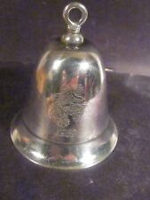 Kirk Stieff Silverplate Musical 1989 ANNUAL BELL I Saw Mommy Kissing Santa Claus