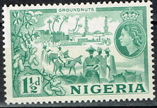 British Nigeria Tribal People Groundnuts Plants stamp 1953 MLH