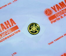 ORIGINAL Yamaha 1,2cm MINI-EMBLEM -Aufkleber-GOLD-Logo-Decal-EMBLEMA-12mm