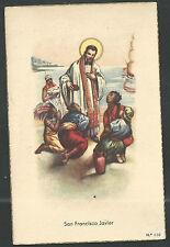 Postal antigua de San Francisco Javier andachtsbild santino holy card santini