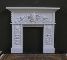 FIREPLACE ~ High Relief Sculpture ~ for  BARBIE  DOLL ~ 1:6 scale  Furniture