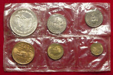1964 Mexican Silver Pesos Uncirculated 6 Coin (Sealed In Plastic) Mint Set L@@K