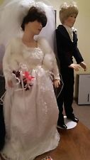 Haunted  Wedding Couple Dolls - Bisque porcelain  Chrystal and John