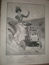 Lux soap motor car old art advert 1901 my ref T