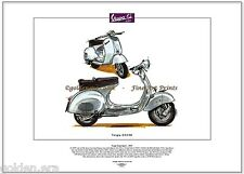 VESPA GS150 Scooter - Art Print - Gran Sport VS1 VS4 - Produced in Italy 1955-59