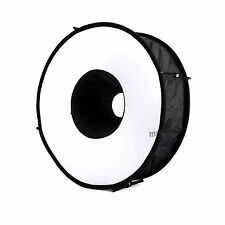 18in/45cm Photo Speedlite/speedlight Ring Flash RoundFlash diffuser softbox